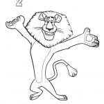דף צביעה אלכס האריה ממדגסקר