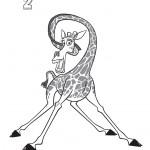דף צביעה מלמן הג'ירף