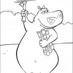 דף צביעה גלוריה אוספת גזרי עץ