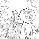 דף צביעה אלכס האריה ומרטי הזברה