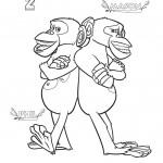 דף צביעה שני השימפנזים פיל ומייסון