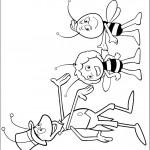 דף צביעה פליפ, ווילי והדבורה מאיה