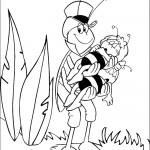דף צביעה החרגול נושא את הדבורים הישנים