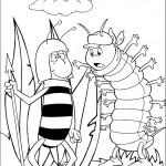 דף צביעה הדבורה מאיה והתולעת