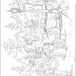 דף צביעה המכשפה הלבנה ג'דיס ביער