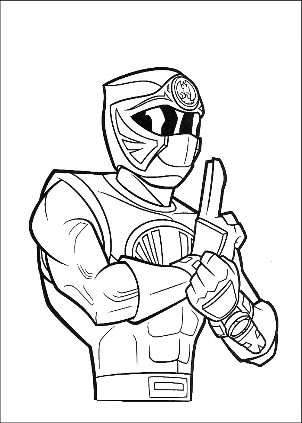 pirate power rangers coloring pages - photo#11