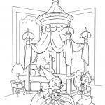 דף צביעה הנסיכה והצפרדע 6