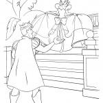 דף צביעה הנסיכה טיאנה והנסיך נאדין