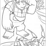 דף צביעה ראלף וסי-באג שטובע במים