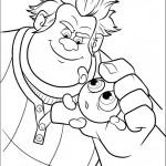 דף צביעה ראלף מחזיק את סוכריית סאוור ביל