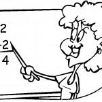 דף צביעה המורה לחשבון