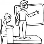מורה ותלמיד זועם