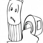 דף צביעה עיפרון ומחדד
