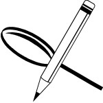 עיפרון וזכוכית מגדלת