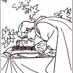 דף צביעה הנסיך נושק לאורורה
