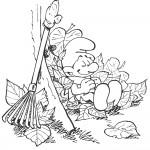 חרוצון נח אחרי גריפת העלים