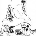 דף צביעה ביתם של הדרדסים