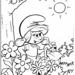 דף צביעה דרדסית מטיילת ביער
