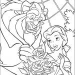 דף צביעה החיה מגישה זר פרחים לבל