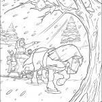 דף צביעה בל בכרכרה עם סוסה פיליפ