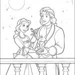 דף צביעה בל והחיה שהפכה לנסיך