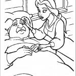 דף צביעה בל ואביה החולה מוריס