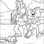 דף צביעה טום פוגש בהיפי מזדקן