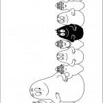 דף צביעה כל משפחת ברבאבא