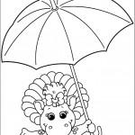 דף צביעה בופ מחזיקה מטרייה