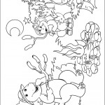 דף צביעה ברני, בופ ובי ג'יי סביב למדורה
