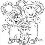 דף צביעה ברני, בופ ובי ג'יי בשדה חמניות