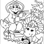דף צביעה ברני ובופ בחג המולד