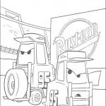 דף צביעה מכוניות דיסני 8