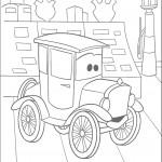 דף צביעה מכוניות דיסני 6