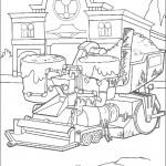 דף צביעה מכוניות דיסני 5