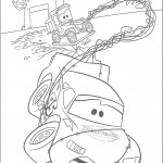 דף צביעה ספידי מקווין מעלה עשן