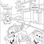 דף צביעה מכוניות דיסני 2