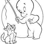 דף צביעה קספר מאלף את החתול