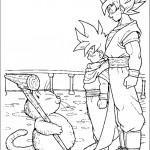 דף צביעה גוקו ובנו גוהאן עם המסטר קרין