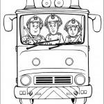 דף צביעה סם, אלביס ופני במשאית הכיבוי