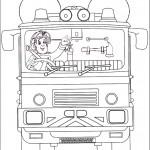 דף צביעה סמי במשאית הכיבוי