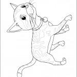 דף צביעה החתולה של בלה לזניה