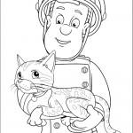 דף צביעה סמי מחזיק בידו חתולה