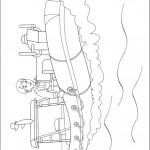 דף צביעה צ'רלי ג'ונס בסירת הדיג