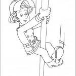 דף צביעה סמי הכבאי מטפס על צינור