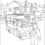 דף צביעה טרוור נהג האוטובוס של פונטיפנדי