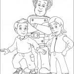 סמי הכבאי עם התאומים ג'יימס ושרה