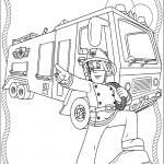 דף צביעה סמי הכבאי ליד משאית הכיבוי