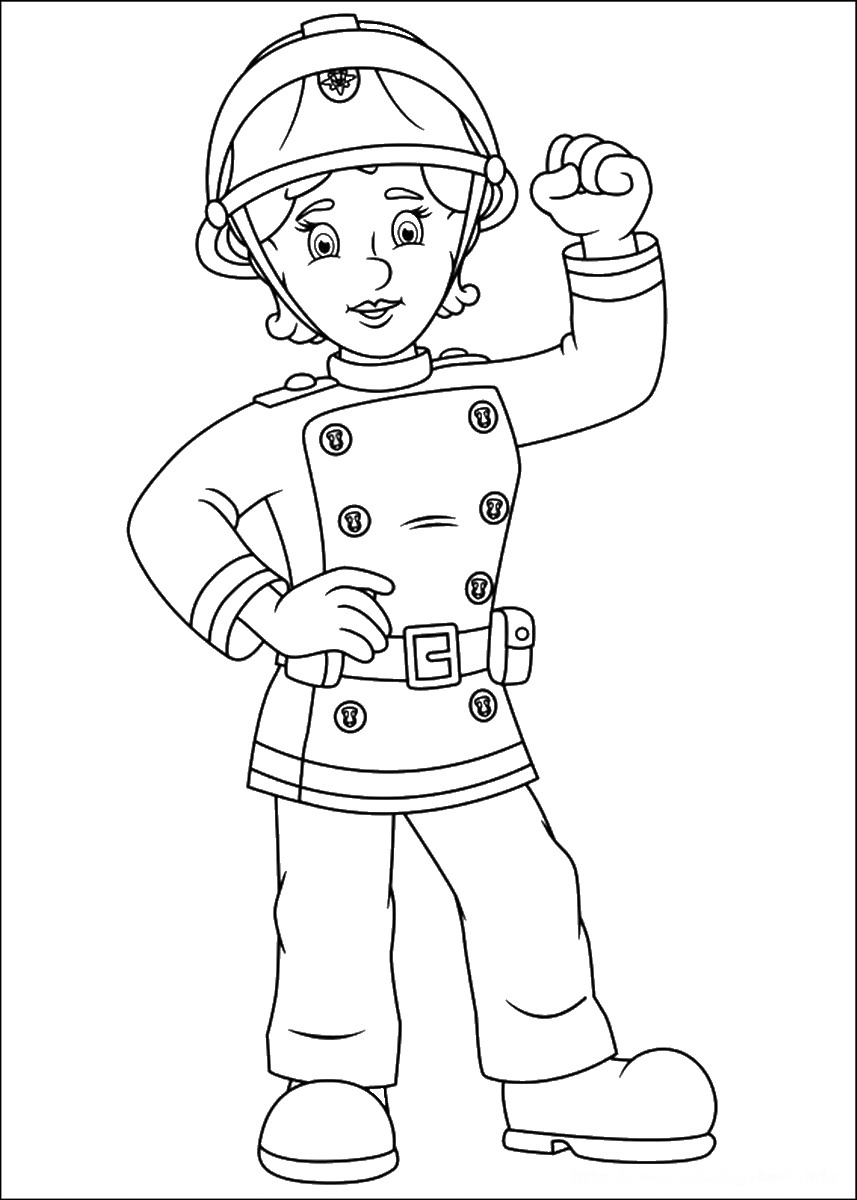 female firefighter coloring pages | Lady Firefighter Coloring Page Coloring Pages