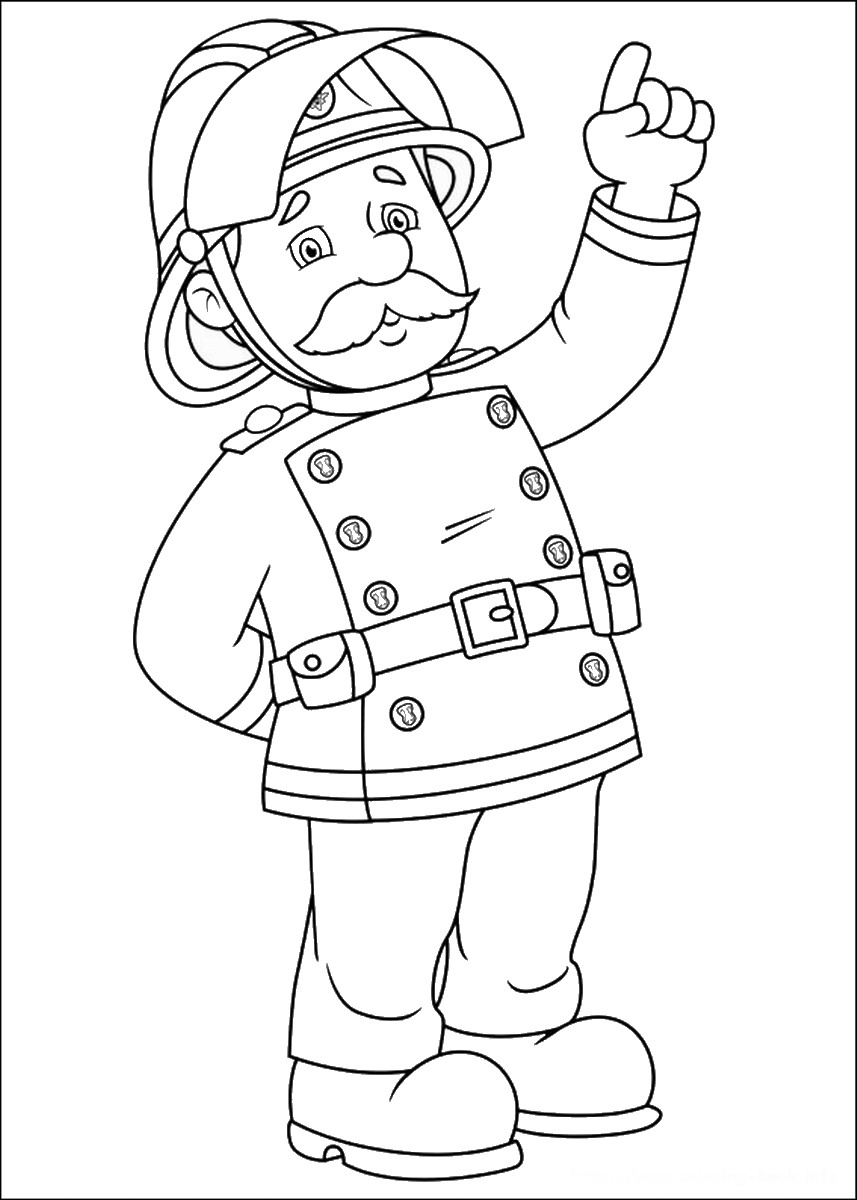 fireman and policeman coloring pages - photo#40